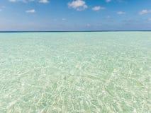 Jasny błękitny morze i niebo Zdjęcie Royalty Free