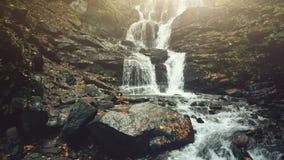 Jasny halny strumie? wody kaskady jesieni ulistnienie zbiory wideo