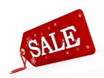 jasny ilustracyjny czerwony tasiemkowy sprzedaży etykietki wektor Fotografia Stock
