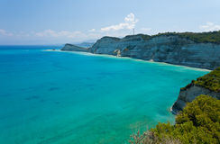Jasny morze na Corfu Obrazy Royalty Free