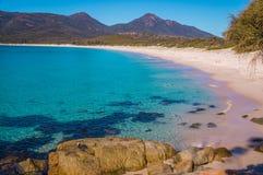 Jasny nawadnia Wineglass zatoki plaża, Tasmania Fotografia Royalty Free