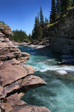 Jasny niebieskie niebo nad Baranią rzeką, Alberta Obraz Stock