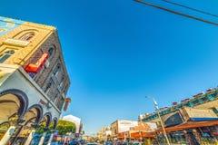 Jasny niebo nad Wenecja plażą Obrazy Stock