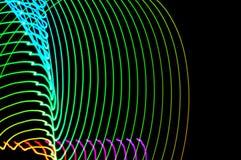 jasny obraz Abstrakt, futurystyczny, kolorowy długi ujawnienie, bl Fotografia Stock