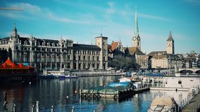 Jasny piękno Zurich obraz royalty free