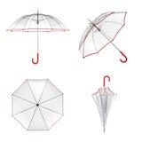 Jasny przejrzysty parasol odizolowywający na białym tle ilustracja 3 d royalty ilustracja