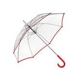 Jasny przejrzysty parasol odizolowywający na białym tle ilustracja 3 d ilustracji