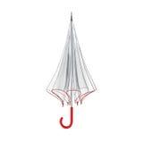 Jasny przejrzysty parasol odizolowywający na białym tle ilustracja 3 d ilustracja wektor