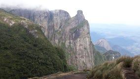 Jasny widok Pico robi Garrafão przy à Parque Nacional Serra dos 'rgãos Fotografia Stock