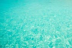 Jasny wodny oceanu błękit dla tła Obraz Royalty Free