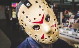 Jason από το την Παρασκευή 13 του μηνός cosplay Στοκ φωτογραφία με δικαίωμα ελεύθερης χρήσης