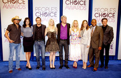 Jason Aldean, Casey Wilson, Jason O'Mara, Monica Potter, Fred Nelson, Kaley Cuoco, Sophia Bush, Anthony Anderson et Mark Burnett Photographie stock