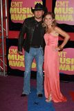 Jason Aldean and wife at the 2012 CMT Music Awards, Bridgestone Arena, Nashville, TN 06-06-12 Royalty Free Stock Photography