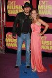 Jason Aldean and wife at the 2012 CMT Music Awards, Bridgestone Arena, Nashville, TN 06-06-12. Jason Aldean and wife  at the 2012 CMT Music Awards, Bridgestone Royalty Free Stock Photography
