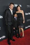 Jason Bateman & Kathryn Hahn & Rohan Chand Arkivfoto