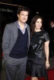 Jason Bateman och Amanda Anka Royaltyfria Bilder