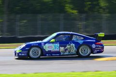 Jason Carter compite con Porsche 911 Imágenes de archivo libres de regalías