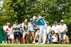 Jason Day at the Memorial Tournament. Jason Day on the 1st tee at the 2014 Memorial Tournament Stock Images