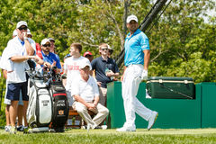 Jason Day at the Memorial Tournament. Jason Day on the 1st tee at the 2014 Memorial Tournament Stock Photos