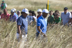 Jason Dufner and Tiger Woods Royalty Free Stock Images