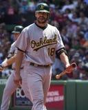 Jason Kendall Oakland Athleticsstoppare Arkivbild