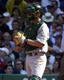 Jason Kendall-vanger, Oakland A's Stock Foto