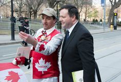 Jason Kenney at Jim Flaherty State Funeral in Toro Royalty Free Stock Photo