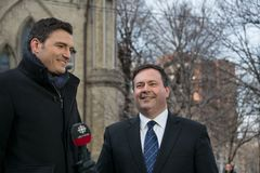 Jason Kenney at Jim Flaherty State Funeral in Toro Stock Photography