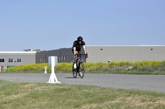 Jason LaPierre Cycling Criterium 2016 royalty-vrije stock foto's