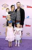 Jason Lee i rodzina fotografia stock
