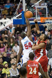 Jason Maxiell Attempts A Dunk Stock Image