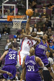 Jason Maxiell Dunks The Ball Royalty Free Stock Images