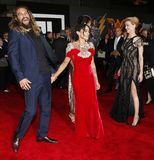 Jason Momoa, Lisa Bonet et Amber Heard Images stock