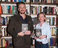 Jason Segel, Kirsten Miller imagem de stock