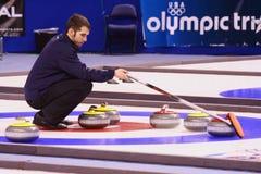 Jason Smith - Atleet van het Team van de V.S. de Olympische Krullende Stock Fotografie