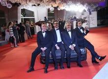 Jason Sudeikis i Nick Hamm, Zawietrzny tempo fotografia royalty free