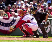 Jason Varitek, Boston Red Sox image libre de droits