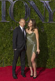 Jason Wu Ashley Green in Green at 2015 Tony Awards Royalty Free Stock Images