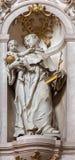 Jasov - sculpture baroque de St Anthony de Padoue dans la nef du cloître de Premonstratesian par Johann Anton Krauss (1728 - 1795) Photographie stock libre de droits