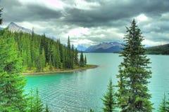 Jaspe Alberta HDR da moraine do lago Imagem de Stock