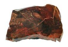 Jasper. Mineral jasper pattern on white Stock Photography