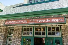 Jasper Railroad Station Sign stock photography