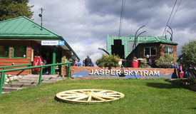 JASPER, CANADA - SEPTEMBER 10, 2016: Station at Jasper Skytram o Royalty Free Stock Photo