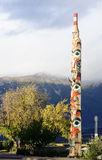 JASPER, CANADA - SEPTEMBER 8, 2016: Totem in the city center on royalty free stock photo