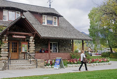 JASPER, CANADA - SEPTEMBER 10, 2016: Tourist Visitor Center on 1 stock image
