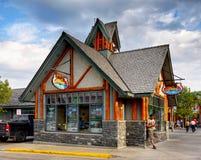 Jasper, Canada. Jasper town street view. Alberta, Canada Royalty Free Stock Image