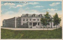 Jasper County Alms House Postcard Cartago MES fotografía de archivo