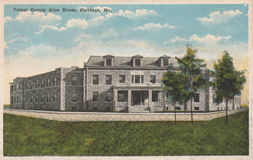 Jasper County Alms House Postcard Carthage Mo stock photography