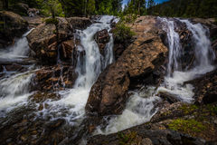 Jasper Creek Falls Colorado. Jasper Creek Falls near lost lake Indian Peaks Wilderness Stock Photos