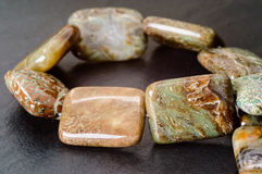 Jasper cushion beads Stock Images
